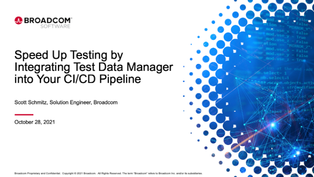 Speed Up Testing by Integrating Test Data Manager into Your CI/CD Pipeline