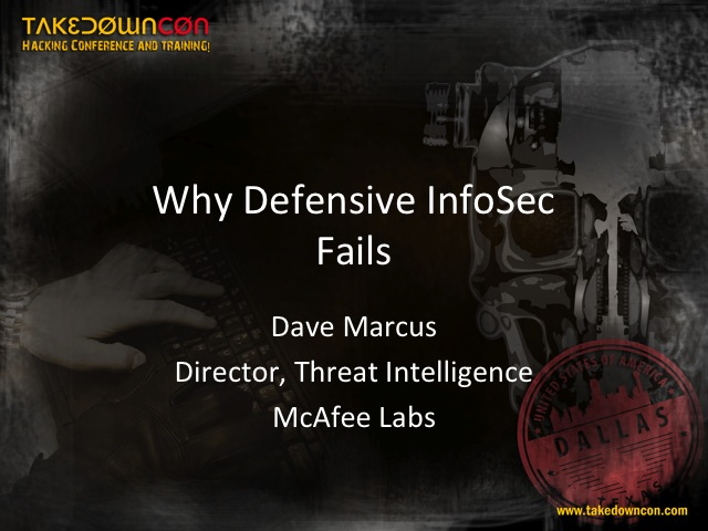 Why Defensive Information Security Fails