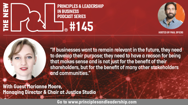 The New P&L speaks to Marianne Moore, Managing Director at Justice Studio