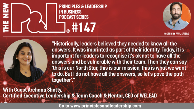 The New P&L speaks to Archana Shetty, Executive Leadership Coach; CEO of WELEAD
