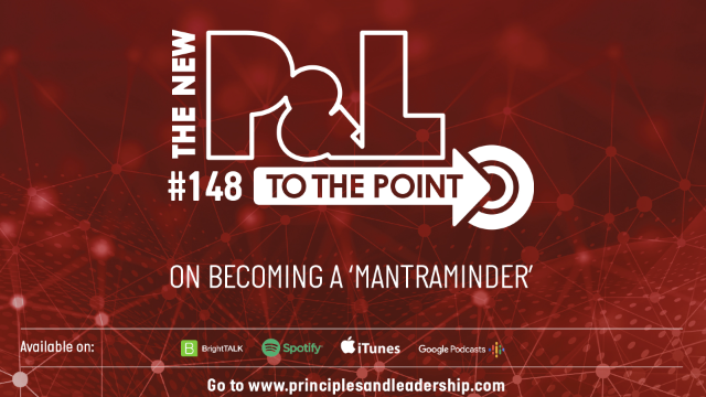 The New P&L TO THE POINT on becoming a MANTRAMinder