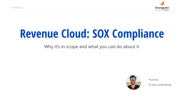 Why Revenue Cloud Is In Scope for SOX Compliance — And What You Can Do About It
