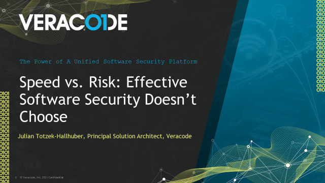Speed vs. Risk: Effective Software Security Doesn't Choose