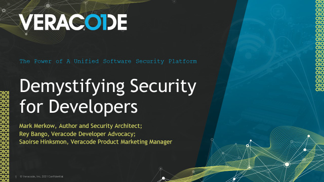 Demystifying Security for Developers