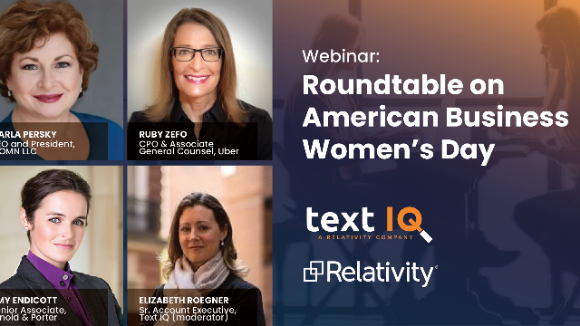 Roundtable on American Business Women's Day
