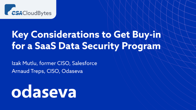 Key Considerations to Get Buy-in for a SaaS Data Security Program