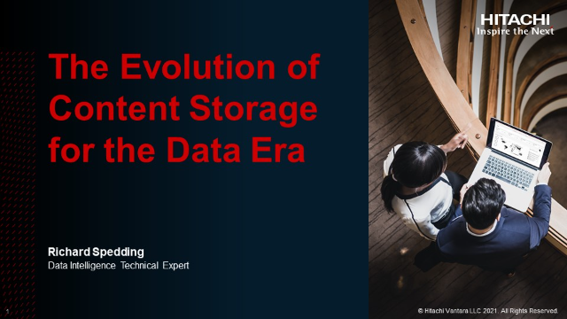 The Evolution of Content Storage for the Data Era