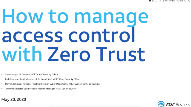How to manage access control with Zero Trust