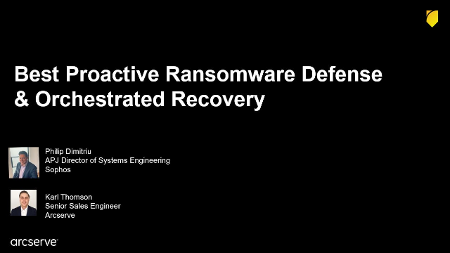 Proactive Ransomware Defense and Orchestrated Recovery