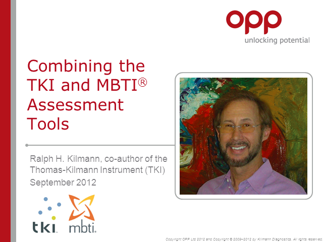 Combining the TKI and MBTI® Assessment Tools