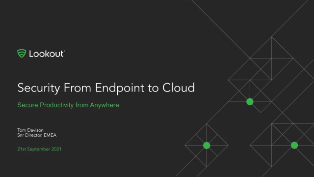 Security from Endpoint to Cloud - Securing Productivity from anywhere