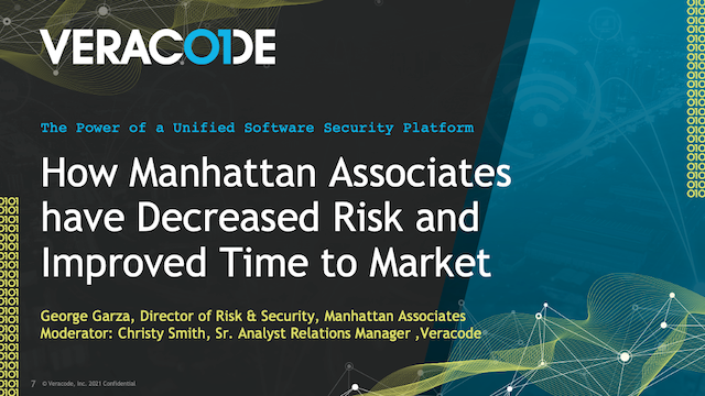 How Manhattan Associates have Decreased Risk and Improved Time to Market
