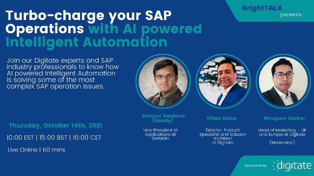 Turbo-charge your SAP Operations with AI powered Intelligent Automation