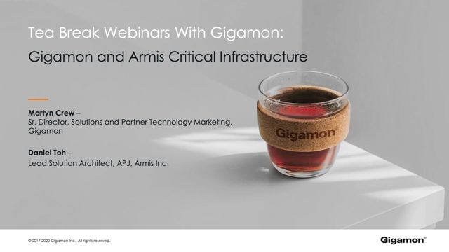 Teabreak with Gigamon: Gigamon and Armis Critical Infrastructure