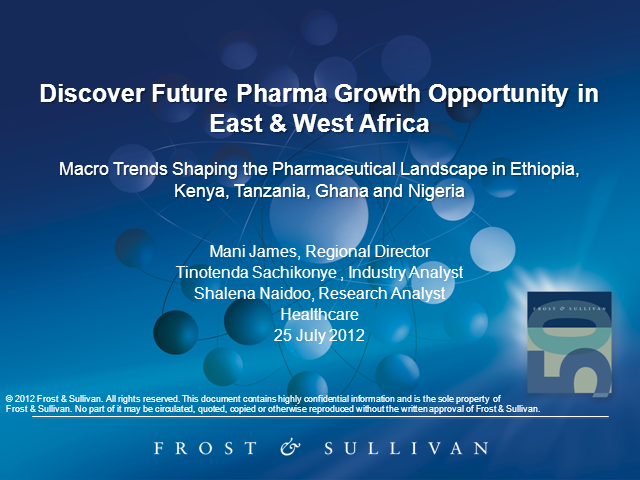 Discover Future Pharma Growth Opportunity in East & West Africa