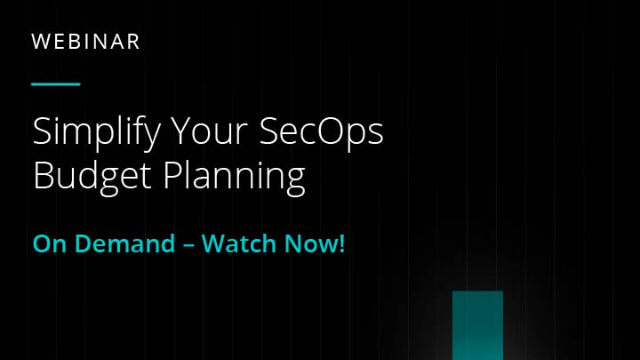 Simplify Your SecOps Budget Planning
