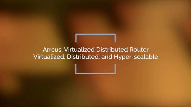 Virtualized Distributed Router: Virtualized, Distributed, and Hyper-scalable