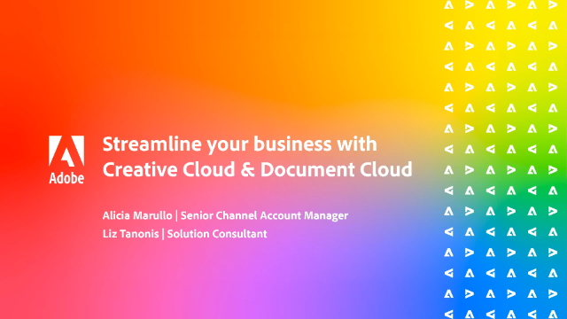 Streamline your business with Creative Cloud & Document Cloud