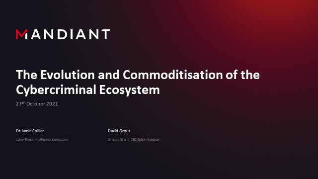 The Evolution and Commoditisation of the Cybercriminal Ecosystem