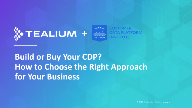 Build or Buy Your CDP? How to Choose the Right Approach for Your Business