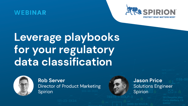 Leverage playbooks for your regulatory Data Classification