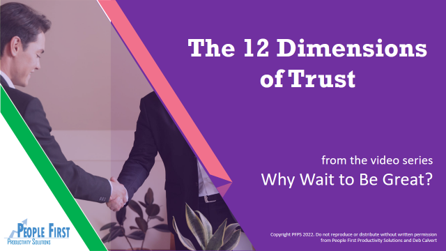 The 12 Dimensions of Trust