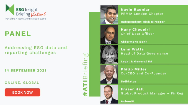 Virtual ESG Briefing Panel: Addressing ESG Data and Reporting Challenges