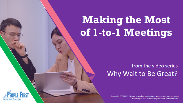Making the Most of 1-to-1 Meetings