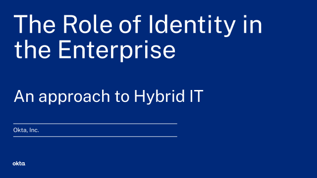 The Role of Identity in the Enterprise - An Approach to Hybrid IT