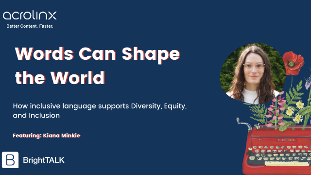 Words Can Shape the World: How inclusive language supports D&I