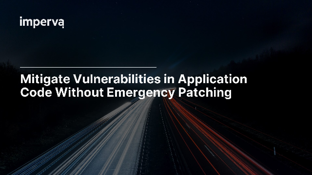 Mitigate Vulnerabilities in Application Code Without Emergency Patching