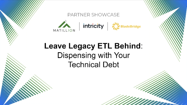 Leave Legacy ETL Behind: Dispensing with Your Technical Debt