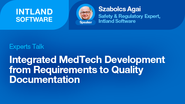 Integrated MedTech Development from Requirements to Quality Documentation