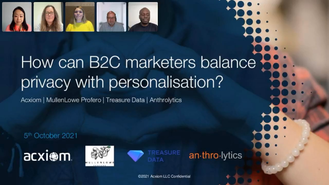 Customer Trust: How can B2C marketers balance privacy with personalisation?