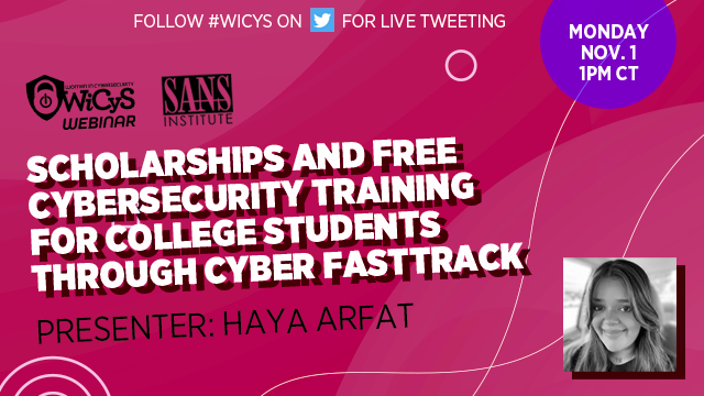 Scholarships & Free Cybersecurity Training for Students through Cyber FastTrack
