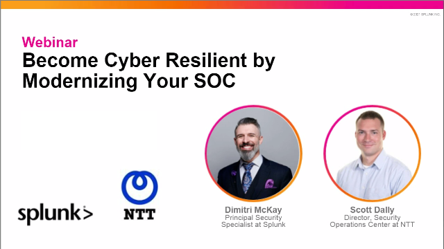 Become Cyber Resilient by Modernizing your SOC