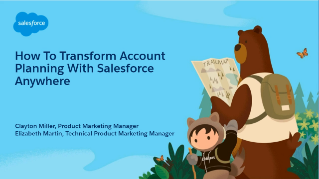 How to Transform Account Planning with Salesforce Anywhere