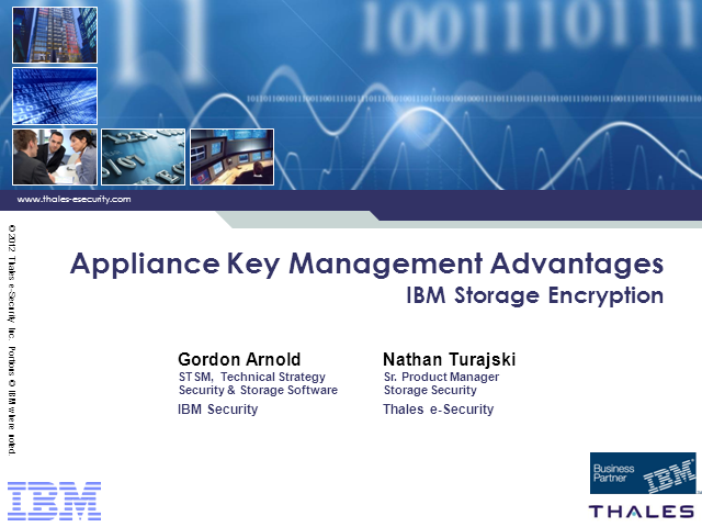 Appliance Key Management Advantages for IBM Storage Encryption