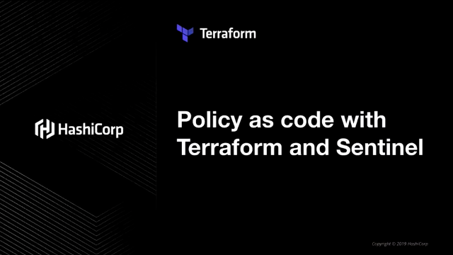 Policy as Code with Terraform & Sentinel