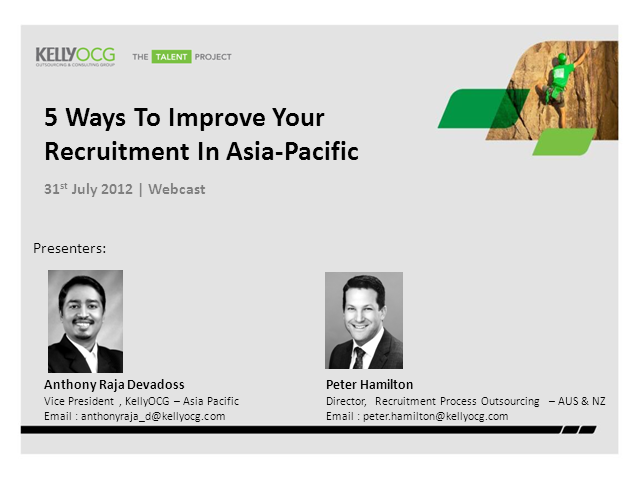 5 Ways to Improve Your Recruitment in Asia-Pacific: Key Findings Webcast