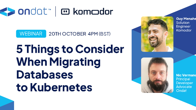 5 Things to Consider When Migrating Databases to Kubernetes