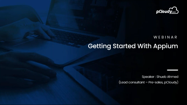 Series 2: Getting started with Appium