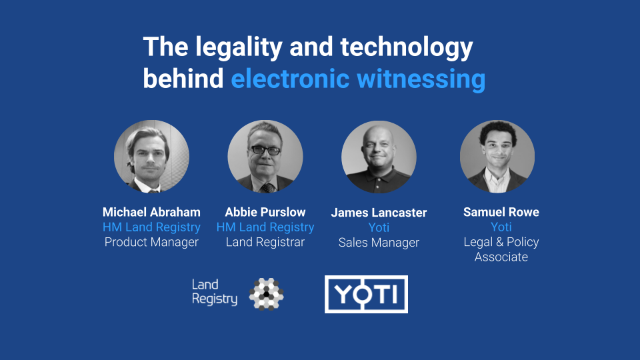 The legality and technology behind electronic witnessing, discussion with HMLR