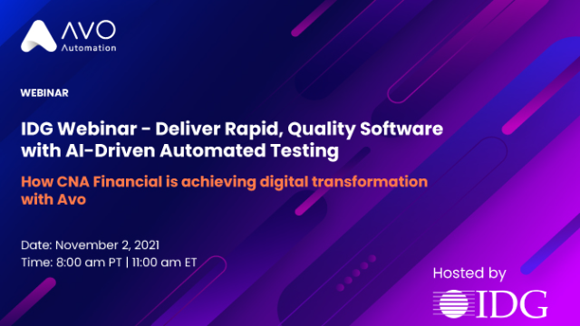 IDG Webinar - Deliver Rapid, Quality Software with AI-Driven Automated Testing