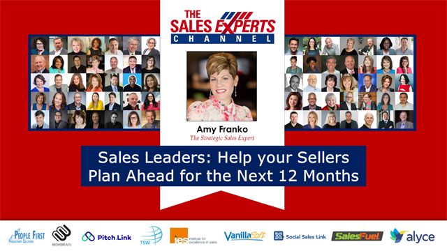 Sales Leaders: Help your Sellers Plan Ahead for the Next 12 Months