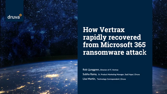 How Vertrax rapidly recovered from a Microsoft 365 ransomware attack