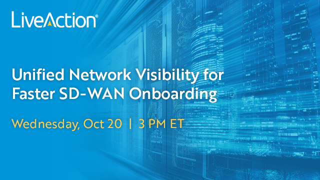 Unified Network Visibility for Faster SD-WAN Onboarding