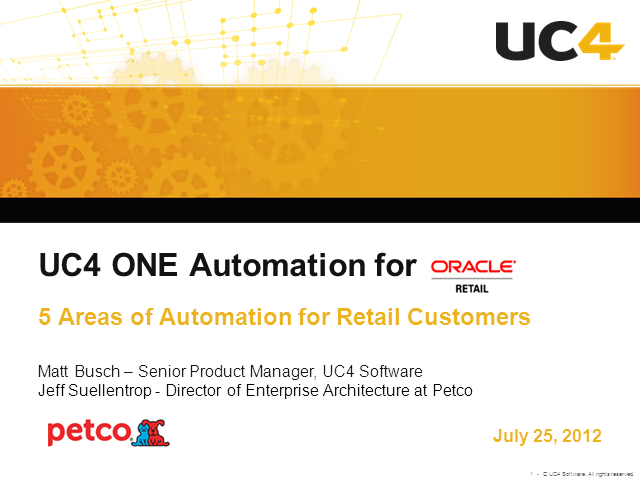 Five Areas Every Oracle Retail Customer Should Automate