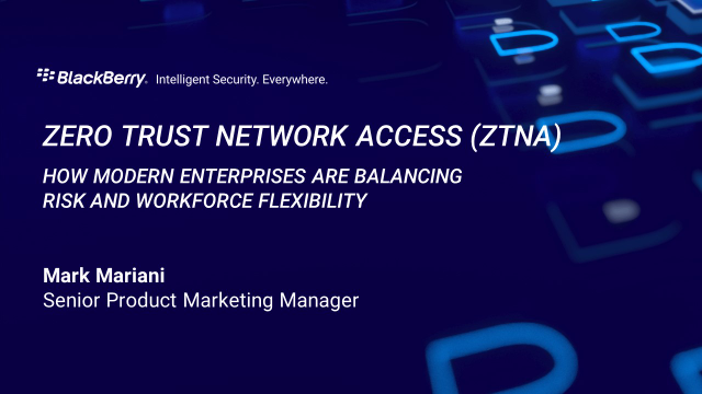 Zero Trust Network Access: balancing risk and workplace flexibility