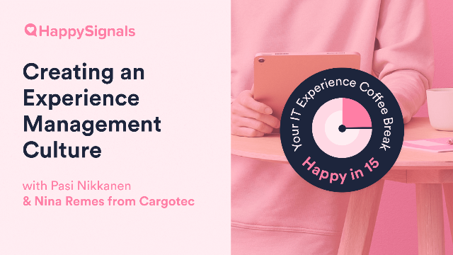 Cargotec's Story; Creating an Experience Management Culture